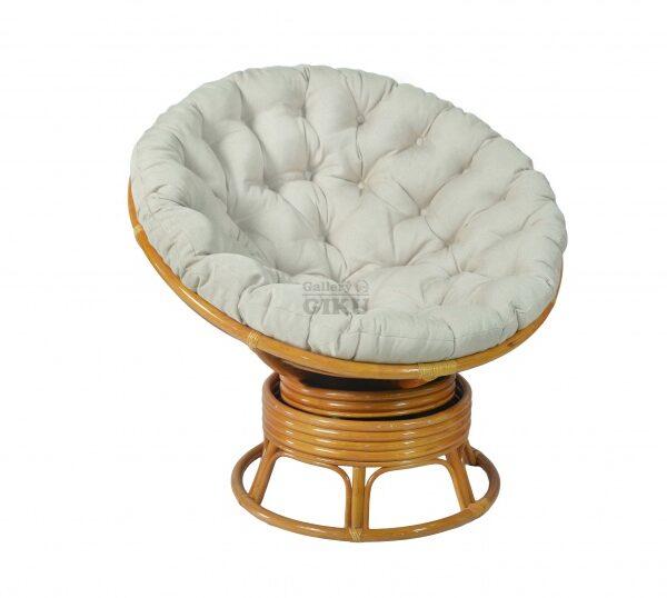 вращающееся кресло папасан плетеное