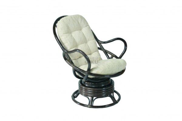 0770К Вращающееся кресло-качалка плетеное